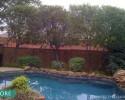 Poolside landscape - Before