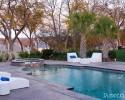 Modern poolside furniture